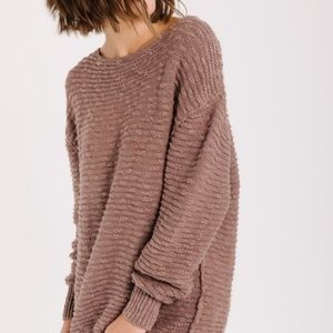 NWT! Free People mauve Cotton knit sweater